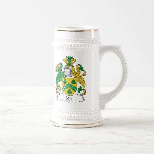 Escudo de la familia de la alegría taza de café