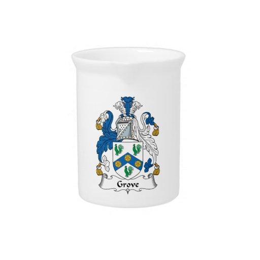 Escudo de la familia de la arboleda jarrón