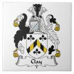 Escudo de la familia de la arcilla tejas  cerámicas