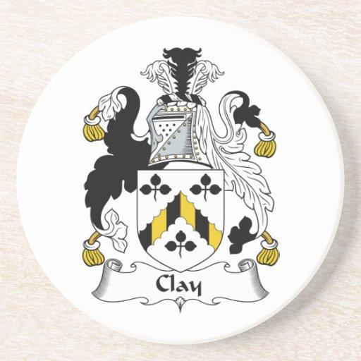 Escudo de la familia de la arcilla posavasos manualidades