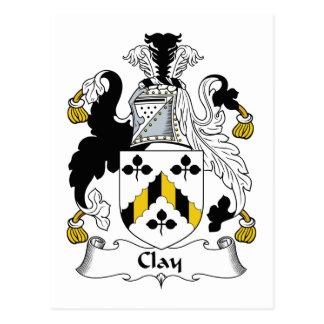 Escudo de la familia de la arcilla postales