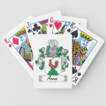 Escudo de la familia de la arena baraja cartas de poker