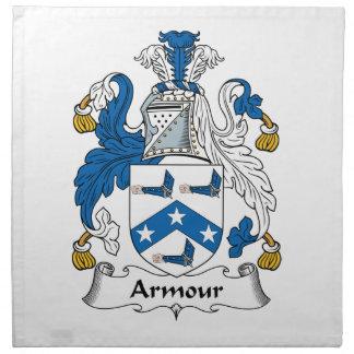 Escudo de la familia de la armadura servilleta
