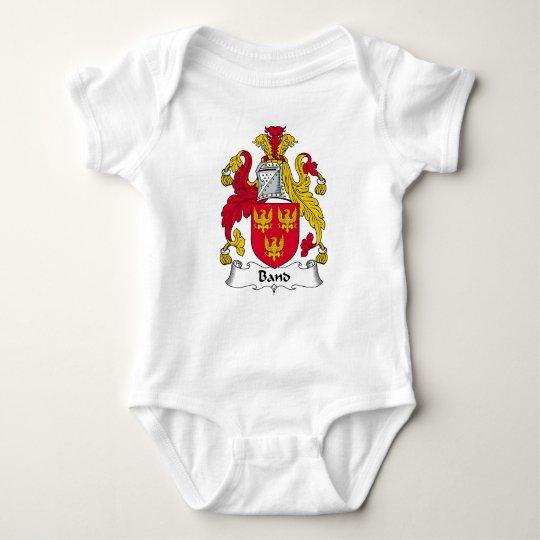 Escudo de la familia de la banda body para bebé