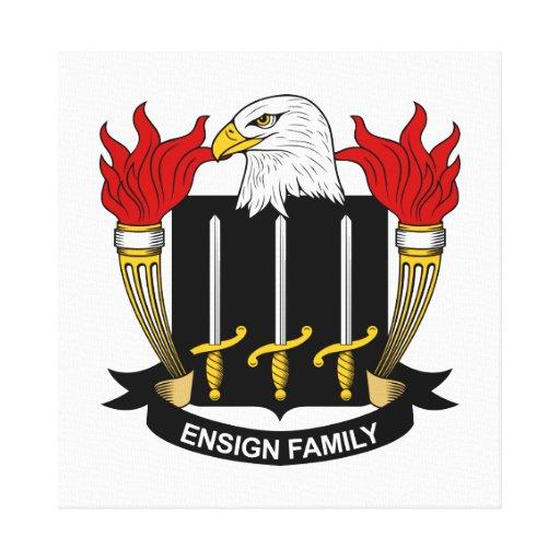Escudo de la familia de la bandera impresiones de lienzo