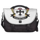 Escudo de la familia de la barandilla bolsas para ordenador