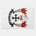 Escudo de la familia de la barandilla toallas de mano