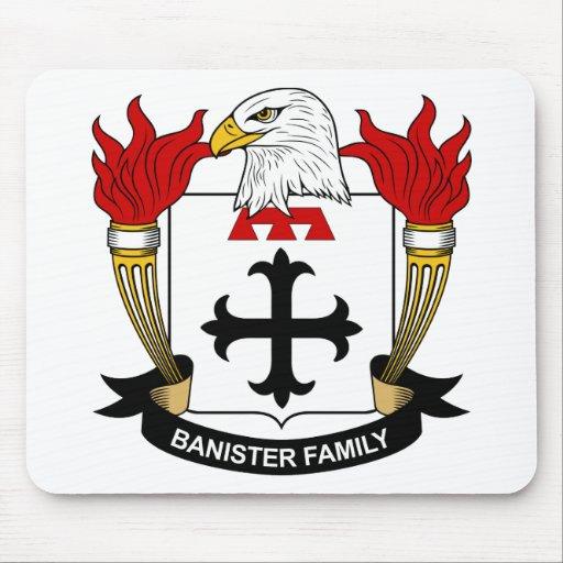 Escudo de la familia de la barandilla tapete de raton