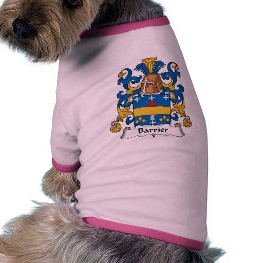 Escudo de la familia de la barrera ropa para mascota