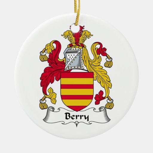 Escudo de la familia de la baya ornamentos de reyes magos