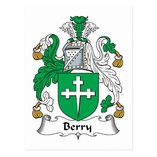 Escudo de la familia de la baya postal