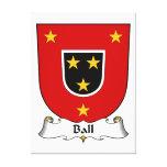 Escudo de la familia de la bola impresiones en lona