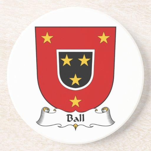 Escudo de la familia de la bola posavasos para bebidas