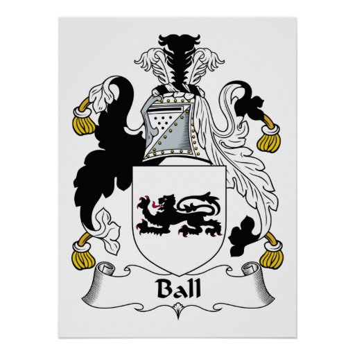 Escudo de la familia de la bola posters