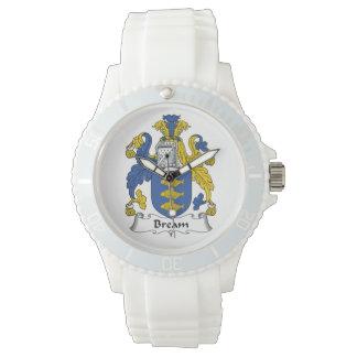Escudo de la familia de la brema relojes de mano