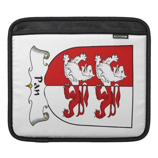 Escudo de la familia de la cacerola manga de iPad