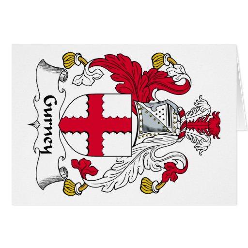 Escudo de la familia de la camilla tarjeta de felicitación