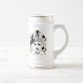 Escudo de la familia de la cañada jarra de cerveza