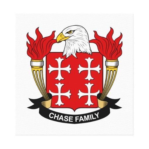 Escudo de la familia de la caza impresión en lienzo estirada
