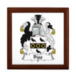 Escudo de la familia de la cebada bigg caja de joyas