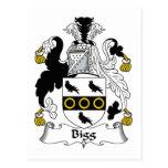 Escudo de la familia de la cebada bigg postales