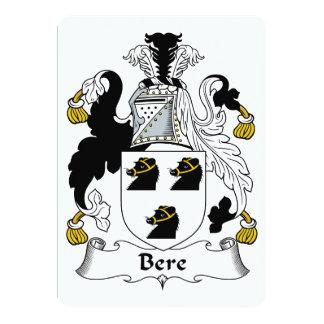 Escudo de la familia de la cebada invitaciones personalizada