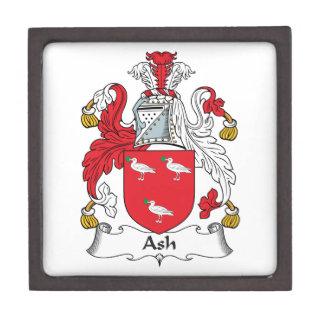Escudo de la familia de la ceniza caja de joyas de calidad