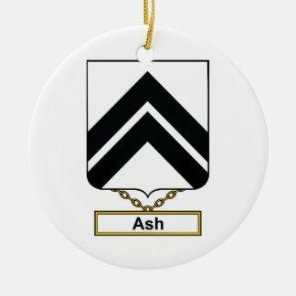 Escudo de la familia de la ceniza ornamentos de reyes magos