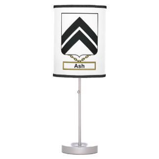 Escudo de la familia de la ceniza lámpara de escritorio