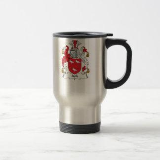 Escudo de la familia de la ceniza tazas de café