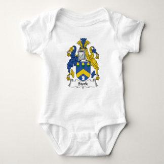 Escudo de la familia de la cigüeña tee shirts