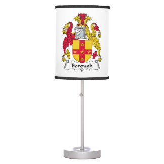 Escudo de la familia de la ciudad lámpara de escritorio