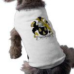 Escudo de la familia de la coalla camiseta de mascota