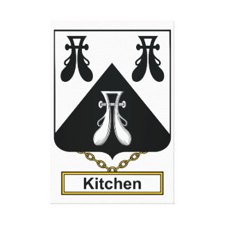 Escudo de la familia de la cocina impresión en lona estirada