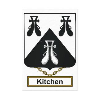 Escudo de la familia de la cocina lona envuelta para galerias