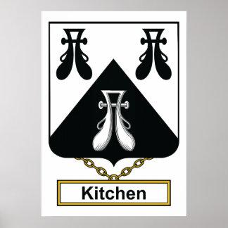 Escudo de la familia de la cocina póster