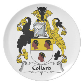 Escudo de la familia de la col com n plato para fiesta