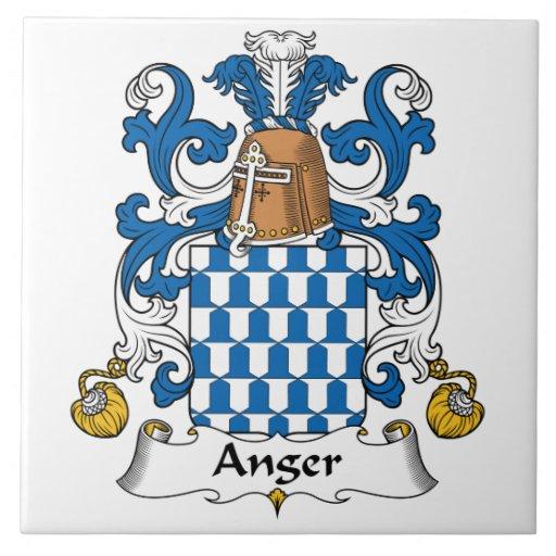 Escudo de la familia de la cólera azulejo cuadrado grande