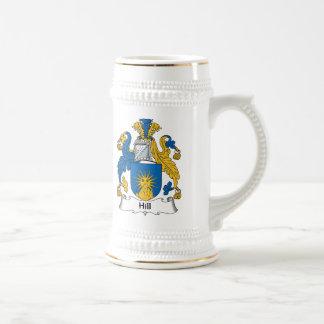 Escudo de la familia de la colina jarra de cerveza