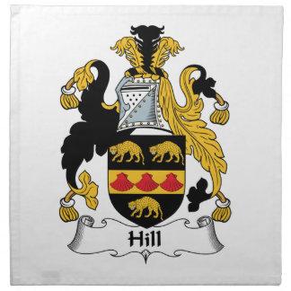Escudo de la familia de la colina servilleta imprimida