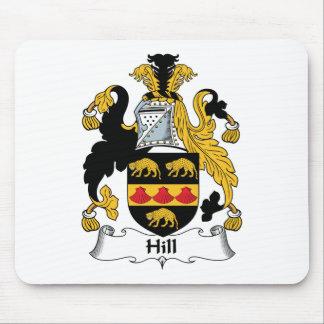 Escudo de la familia de la colina tapetes de raton