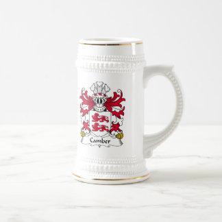 Escudo de la familia de la comba jarra de cerveza