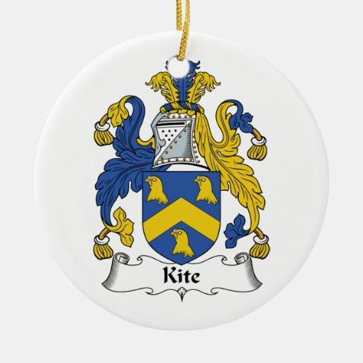 Escudo de la familia de la cometa adorno de reyes