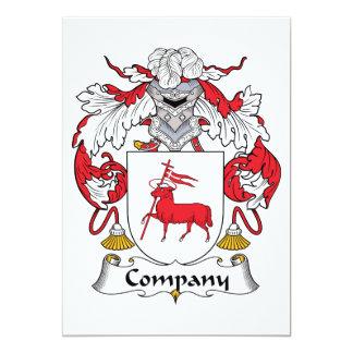 Escudo de la familia de la compañía anuncios personalizados