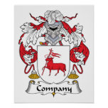 Escudo de la familia de la compañía poster