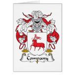 Escudo de la familia de la compañía tarjetas