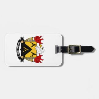 Escudo de la familia de la corona etiquetas bolsas