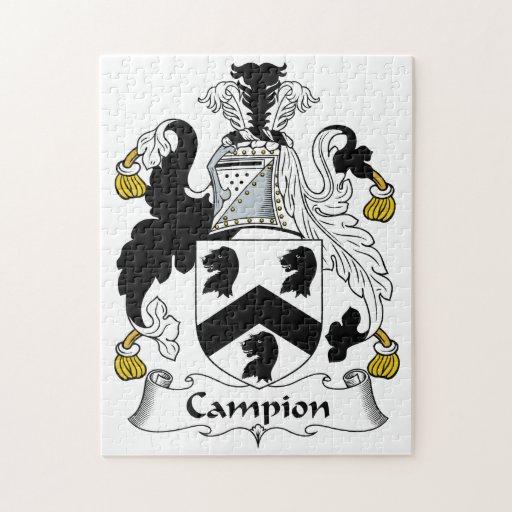 Escudo de la familia de la coronaria rompecabeza con fotos