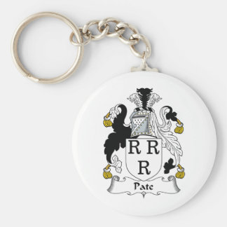 Escudo de la familia de la coronilla llavero personalizado
