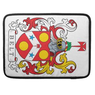 Escudo de la familia de la correa fundas para macbooks